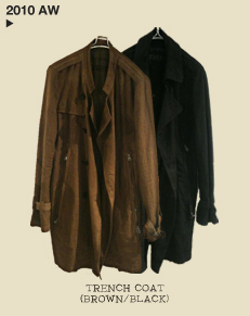 TRENCH COAT(BROWN/BLACK)