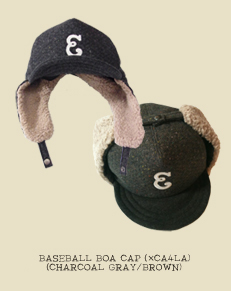 BASEBALL BOA CAP(×CA4LA)(CHARCOAL GRAY/BROWN)