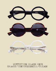 ×EFFECTOR GLASS GRIS(BLACK/TORTOISESHELL/CLEAR)