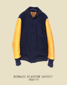 REMAKE STADIUM JACKET(NAVY)