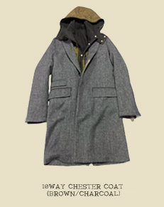 10WAY CHESTER COAT (BROWN/CHARCOAL)