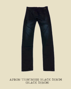 APRON TIGHTNESS BLACK DENIM (BLACK DENIM)