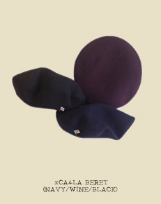 xCA4LA BERET (NAVY/WINE/BLACK)