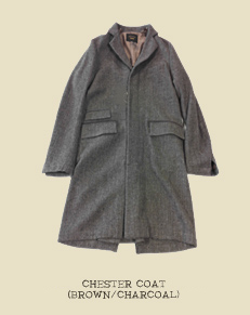 CHESTER COAT (BROWN/CHARCOAL)