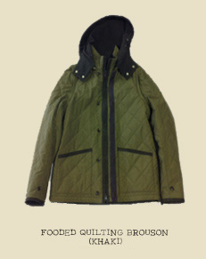 FOODED QUILTING BROUSON (KHAKI)