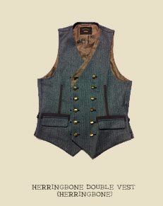 HERRINGBONE DOUBLE VEST (HERRINGBONE)