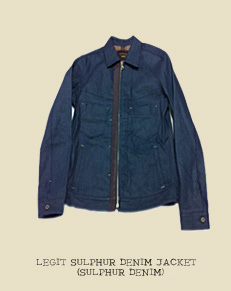 LEGIT SULPHUR DENIM JACKET (SULPHUR DENIM)