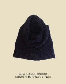 LOW GAUGE SNOOD (BROWN MIX/NAVY MIX)