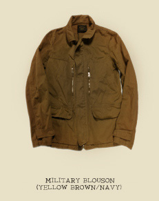 MILITARY BLOUSON (YELLOW BROWN/NAVY)