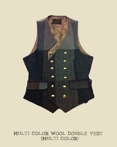 MULTI COLOR WOOL DOUBLE VEST (MULTI COLOR)