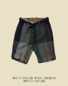 MULTI COLOR WOOL SHORTS (MULTI COLOR)