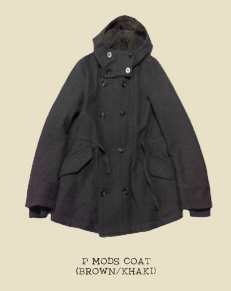 P MODS COAT (BROWN/KHAKI)