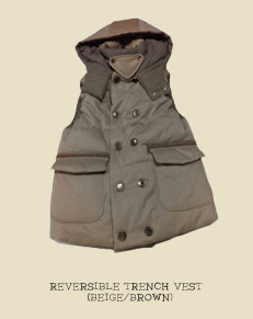 REVERSIBLE TRENCH VEST (BEIGE/BROWN)