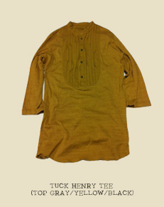 TUCK HENRY TEE (TOP GRAY/YELLOW/BLACK)