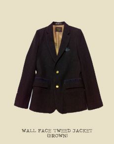 WALL FACE TWEED JACKET (BROWN)