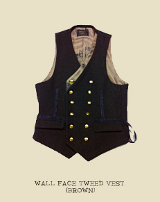 WALL FACE TWEED VEST (BROWN)