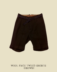 WOOL FACE TWEED SHORTS (BROWN)