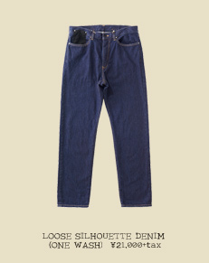 LOOSE SILHOUETTE DENIM (ONE WASH)