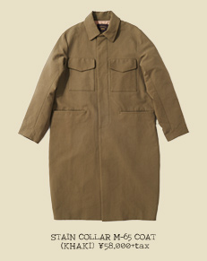 STAIN COLLAR M-65 COAT (KHAKI)