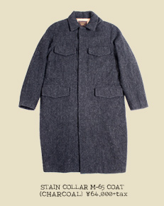STAIN COLLAR M-65 COAT (CHARCOAL)