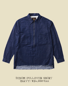 DENIM PULLOVER SHIRT (NAVY)