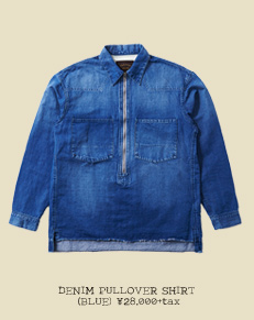 DENIM PULLOVER SHIRT (BLUE)