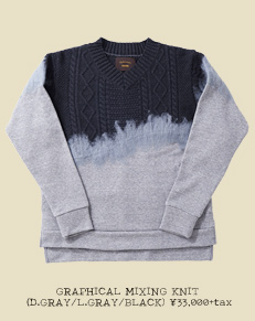 GRAPHICAL MIXING KNIT (D.GRAY/L.GRAY/BLACK)