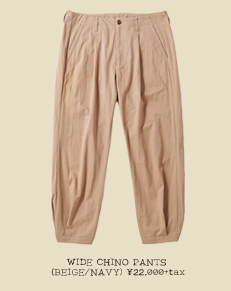 WIDE CHINO PANTS (BEIGE/NAVY)