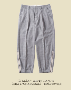 ITALIAN ARMY PANTS (GRAY/CHARCOAL)