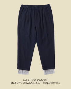 LAYERD PANTS (NAVY/CHARCOAL)