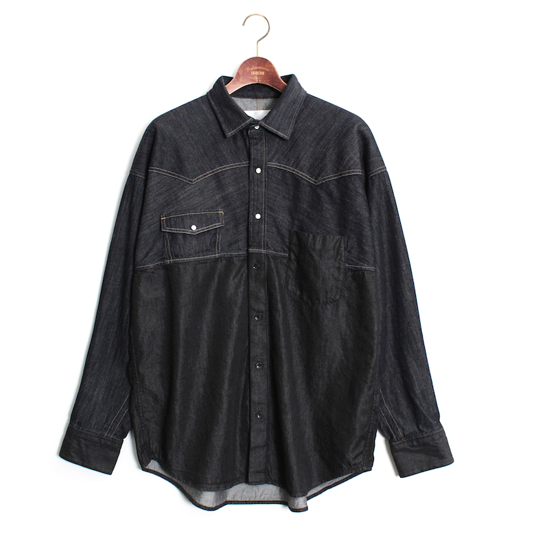 Enharmonic TAVERN Combination Denim Shirt -Indigo