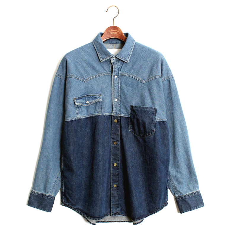 Enharmonic TAVERN Combination Denim Shirt -Sax
